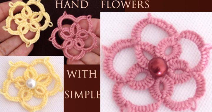Flores estilo Irlandés a crochet tejidas con una aguja muy fácil tejido tallermanualperu