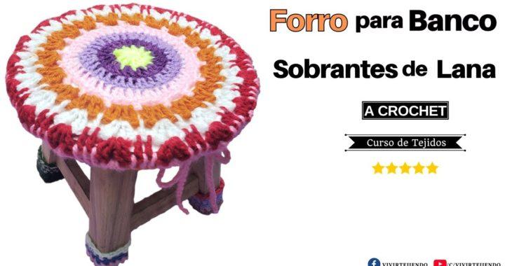 🌈 Forro para Banco Circular a Crochet con Granny ✅ Tejidos a Crochet par Principiantes