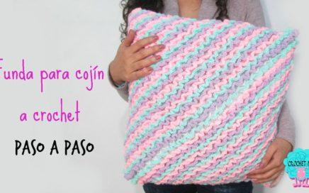 Funda para cojín a crochet - paso a paso