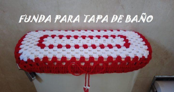 Funda para tapa de baño / tejido en crochet