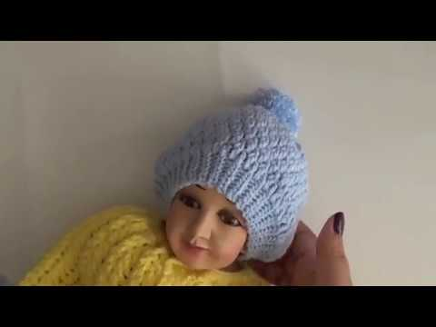 Gorro a crochet - Conjunto para el niño Dios - Tejido a ganchillo