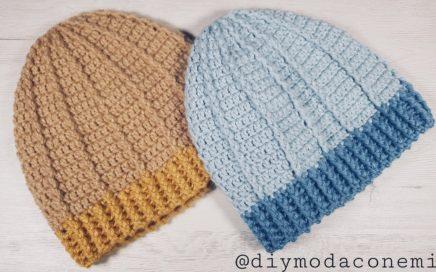 Gorro de lana tejido a crochet paso a paso