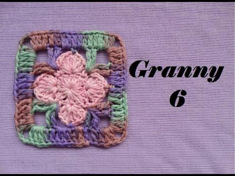 Granny 6 a Crochet | Fácil