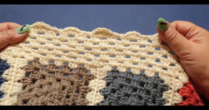 Granny Square Blanket Crochet Along Part 10 - Final Border Row