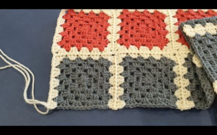 Granny Square Blanket Crochet Along Part 4 - Adding your 2nd set of 8 squares
