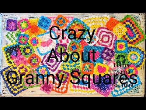 Granny Square Crazy! Squares,  Blankets, Crochet Projects.