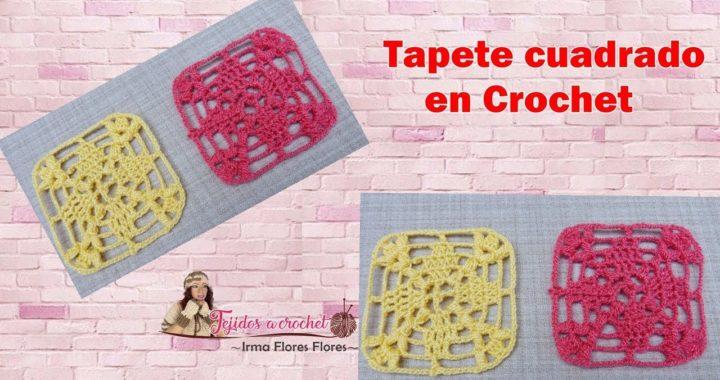Grannys o pastilla  crochet/ tapete cuadrado fácil de tejer mode º03