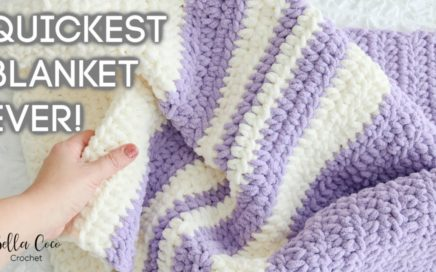 HOW TO CROCHET A FAST AND EASY BLANKET | BEGINNER FRIENDLY | MAKE IN 3 HOURS | Bella Coco Crochet