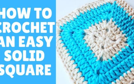 HOW TO CROCHET A SOLID GRANNY SQUARE WITH COLOR CHANGE BY RADCROCHET