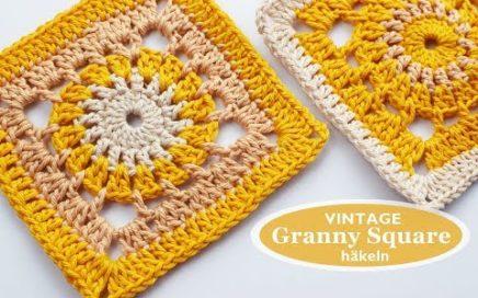 Häkelanleitung: Vintage Granny Square für Fortgeschrittene | Carmushka-Diy