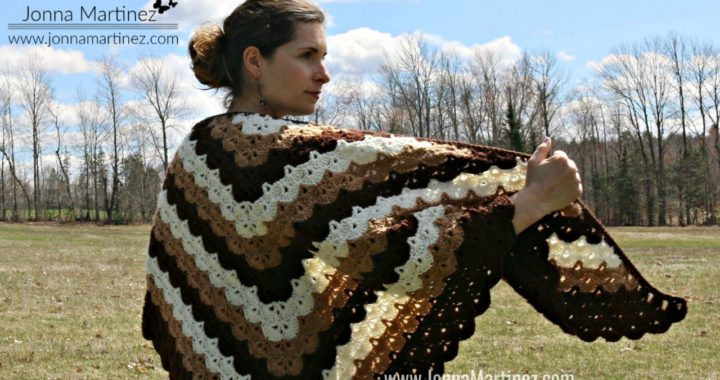 How To Crochet A Beautiful Shells Shawl | Crochet Shawl | EASY