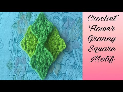 How To Crochet Flower Granny Square Motif #36