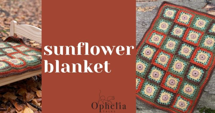 How To Crochet: SUNFLOWER GRANNY SQUARE BLANKET / Ophelia Talks Crochet