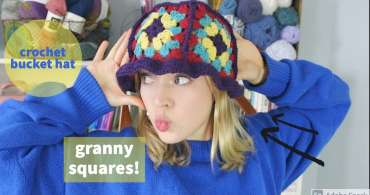 How To Crochet a Bucket Hat with Granny Squares!