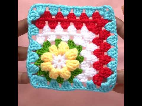 How To Crochet a Crochet Flower Granny Square