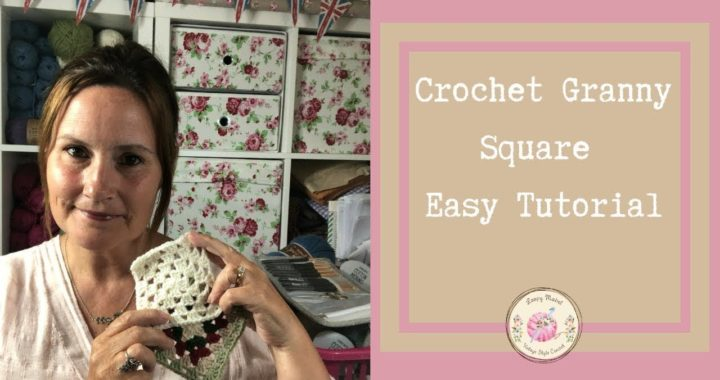 How to Crochet A Granny Square (Easy) Tutorial by Loopy Mabel