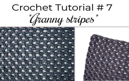 How to Crochet The Granny Stripe Stitch for Beginners - EASY Tutorial