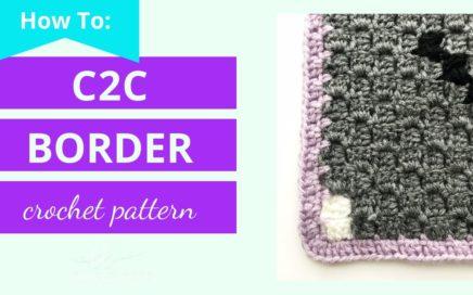 How to Crochet a Border around a c2c graphgan   corner to corner graphgan border