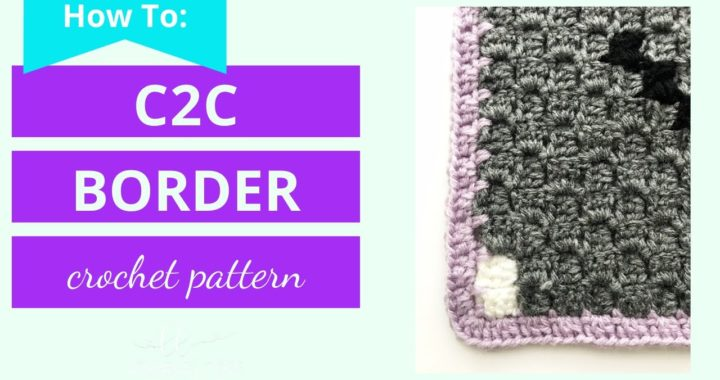 How to Crochet a Border around a c2c graphgan | corner to corner graphgan border