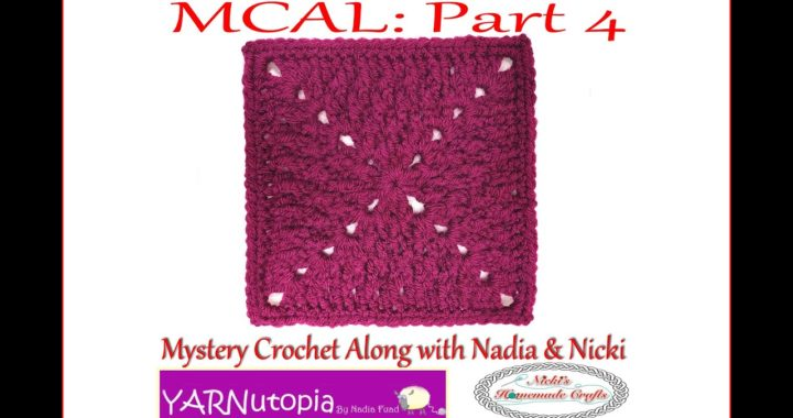 How to Crochet an Alpine Stitch Granny Square: PART 4 of the MYSTERY CROCHET ALONG