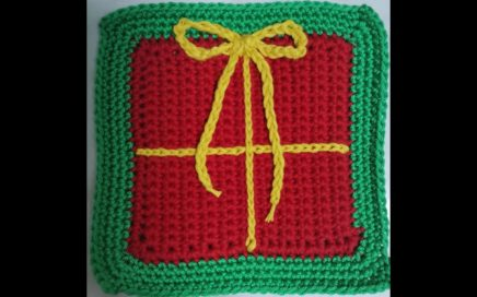 How to crochet Granny square Gift Box