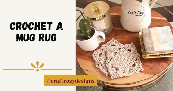 How to crochet a mug rug / coaster easy tutorial