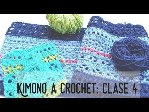Kimono a Crochet. Reto Crochetil. Clase 4 #crochetycalma