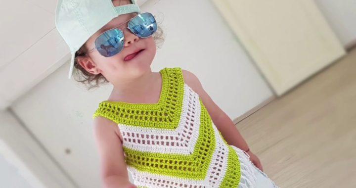 Little Girl Summer Top. Easy crochet tutorial