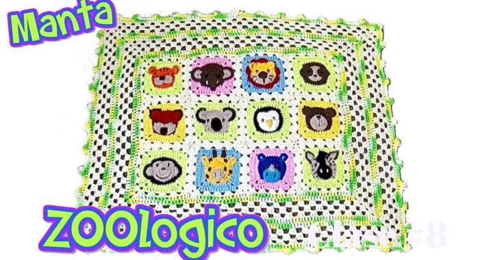 Manta Para bebe tejida a crochet de Zoológico - Clase 8