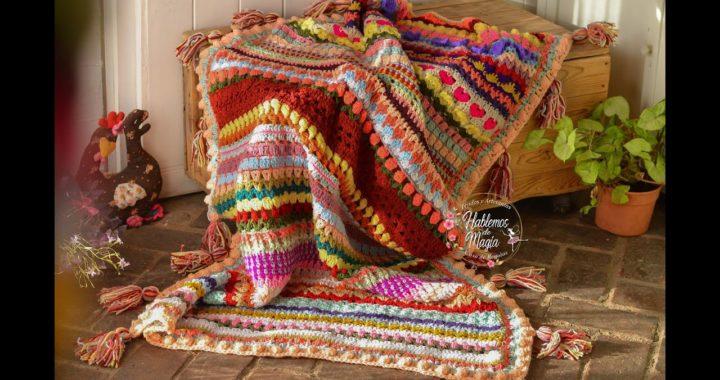 Manta a crochet (La magia de todas) Parte 2