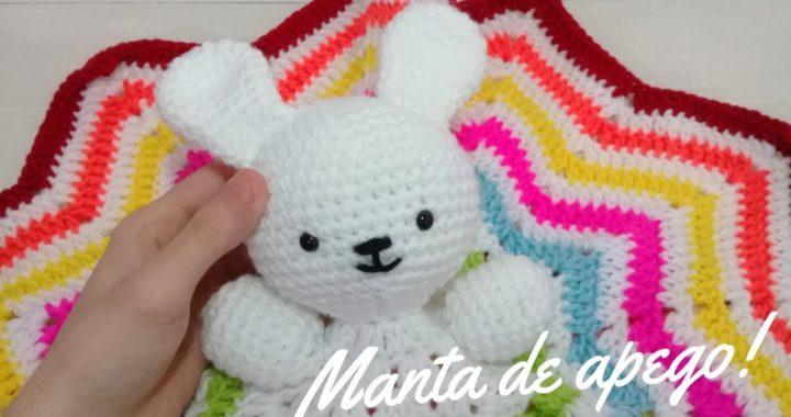 Manta de Apego Conejito Tejida a Crochet - Paso a Paso