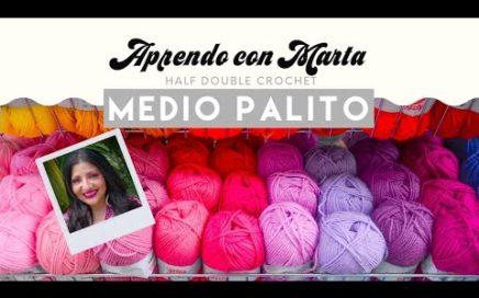 Medio Palito | *SUPER FÁCIL* | puntos del crochet | Half-Double Crochet | Aprendo con Marta