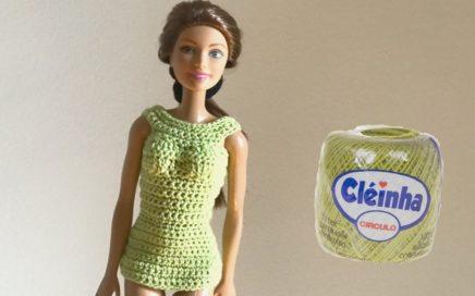 Moda Barbie Crochê - Aula nº 04 - Base Básica para Vestido