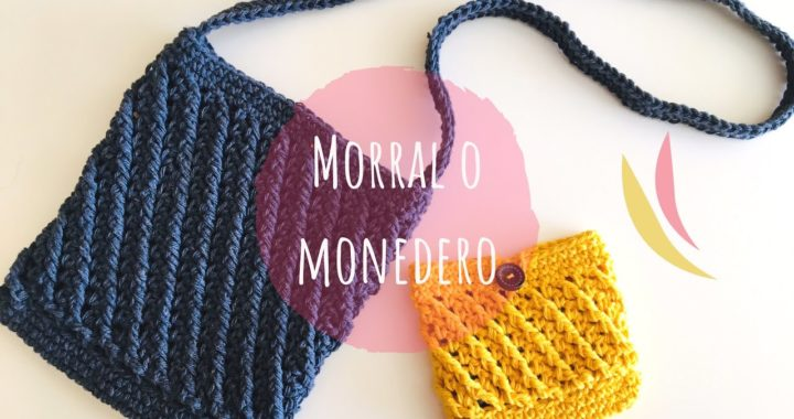 Morral o monedero tejido a crochet paso a paso tutorial