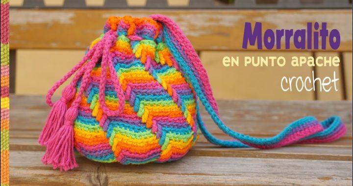 Morralito tejido a crochet en el punto Apache Tears / Tejiendo Perú 😌