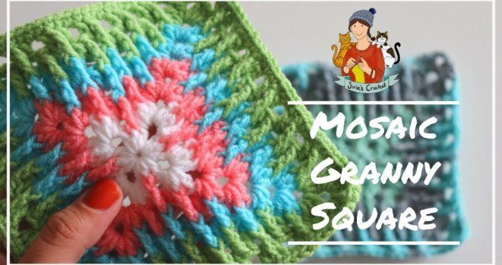 Mosaic Granny Square / Crochet Tutorial