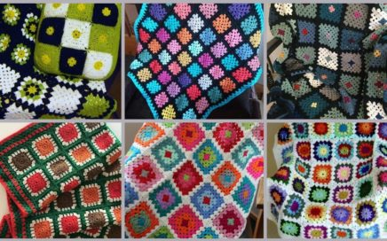 Most Beautiful Crochet Colorful Blanket Design And Pattern