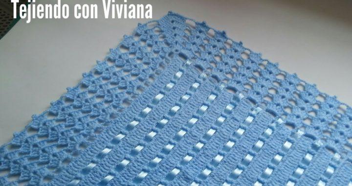 Orilla tejida a crochet para Sabanita o Manta