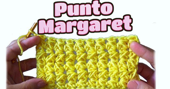 PUNTO MARGARET - Puntada para manta de bebe en gancho fácil y rápida