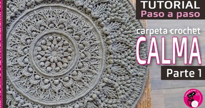 Parte 1: Carpeta CALMA, carpeta mandala crochet EN CASTELLANO! Paso a paso