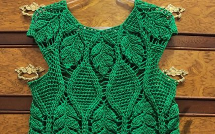 Passo a Passo Blusa Crochet Folhas mod. 2 parte 1/4-Tutorial Shirt Crochet Sheets model 2
