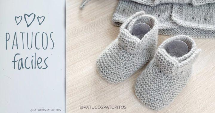 Patucos fáciles para bebe que podrás tejer en un par de horas
