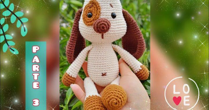 Perro Amigurumi 3/3 - Tutorial paso a paso - Crochet (cuerpo y coser las piezas) 🤗