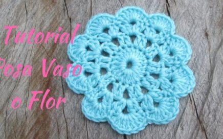 PosaVaso o Flor a Crochet Súper Fácil :)