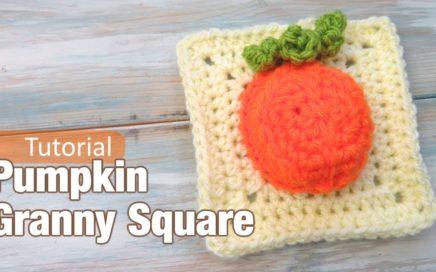 Pumpkin Granny Square - How to Crochet
