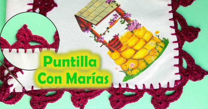 Puntilla con Marías + Crochet Fácil y Rápido