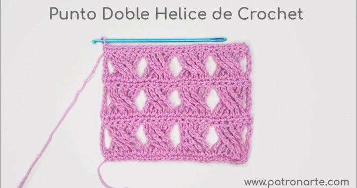 Punto Doble Hélice de Crochet - Ganchillo Paso a Paso #crochet #ganchillo