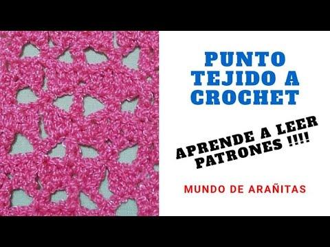 Punto Tejido a Crochet para Mantas o cortinas