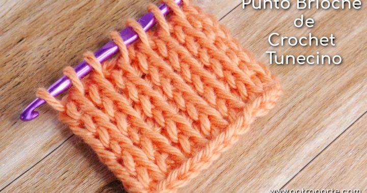 Punto Tunecino Brioche de Crochet Tunecino | Aprende Crochet Tunecino Paso a Paso
