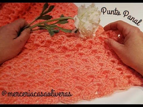 Punto a Crochet con relieve: Punto panal o punto 3D  fácil (crochet stitch)